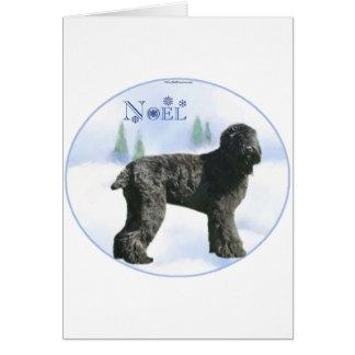 Cartão Russo preto Terrier Noel