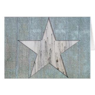 Cartão rústico da estrela