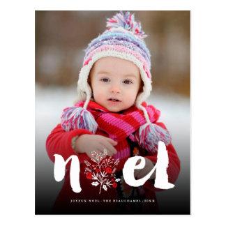 Cartão rústico da foto do feriado do Natal de Noel