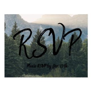 Cartão rústico de RSVP