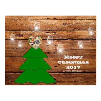 Cartão rústico de Texas do Feliz Natal