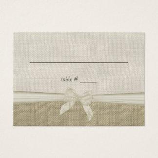 Cartão rústico do assento do país de serapilheira