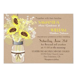 Cartão rústico do convite do casamento de