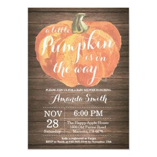 Cartão rústico do convite do chá de fraldas da
