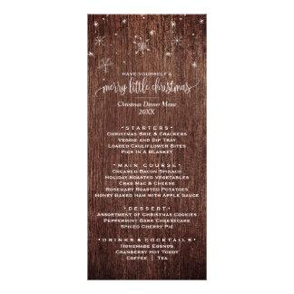 Cartão rústico do menu do comensal de Natal do