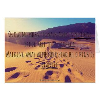 Cartão Saber quando andar afastado é sabedoria…