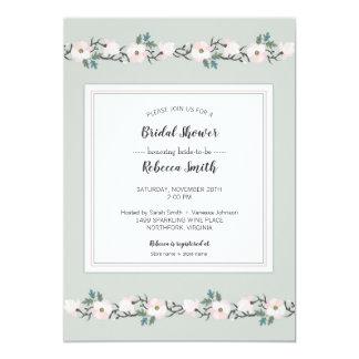 Cartão Sábio + cora o chá de panela floral cor-de-rosa