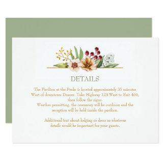 Cartão Sábio do casamento da aguarela dos Wildflowers do