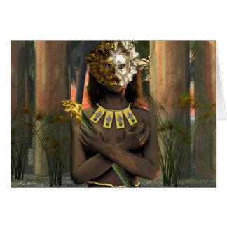 Cartão Sacerdotisa do leão da estrela