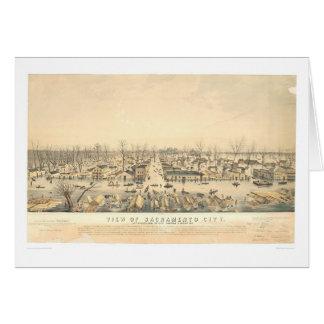 Cartão Sacramento durante uma inundação de 1850 (1586A)