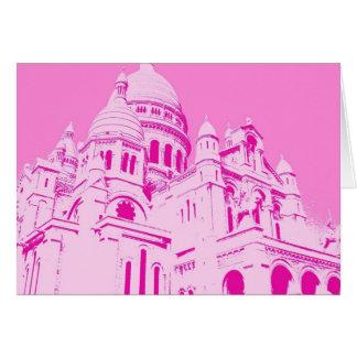 Cartão Sacre cor-de-rosa Coeur 1