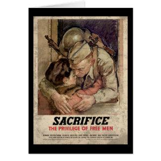 Cartão Sacrifique o privilégio de homens livres