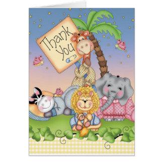 Cartão Safari do bebê