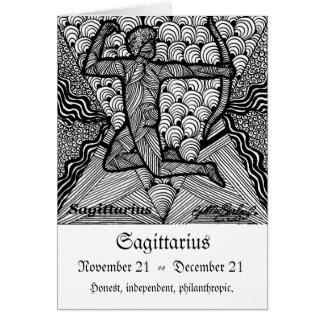 Cartão Sagittarious (sinal do zodíaco)