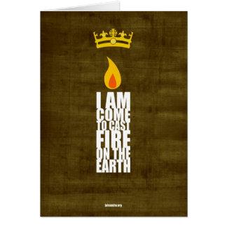 Cartão sagrado da chama