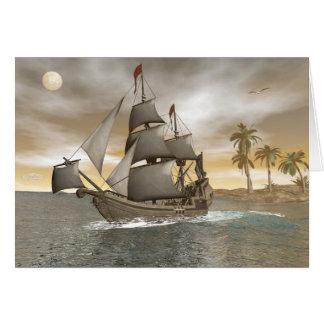 Cartão Sair do navio de pirata - 3D render.j