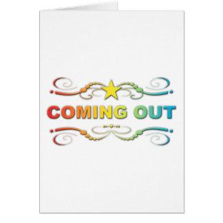 Cartão sair: flourish do arco-íris