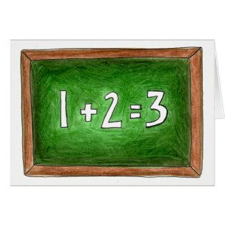Cartão Sala de aula da escola do quadro da ardósia do