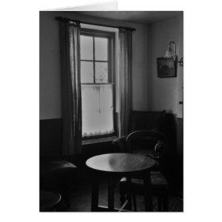 Cartão Sala de estar velha do bar (irlandês)