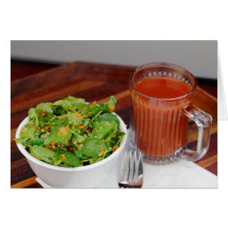 Cartão Salada de agrião do molho do tomate da cenoura do