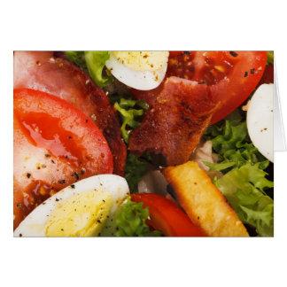 Cartão Salada do tomate e do bacon