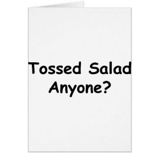 Cartão Salada lanç qualquer um