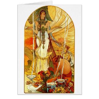 Cartão Salammbo por Alphonse Mucha