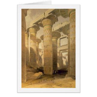 """Cartão Salão das colunas, Karnak, de """"Egipto e de Nubia"""","""