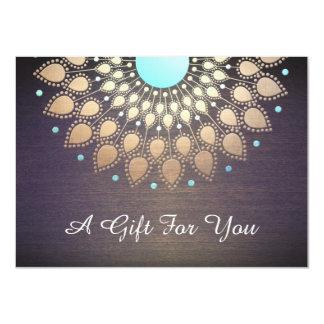 Cartão Salão de beleza de Lotus do ouro e certificado de