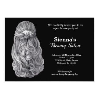 Cartão Salão de beleza longo do cabeleireiro | do