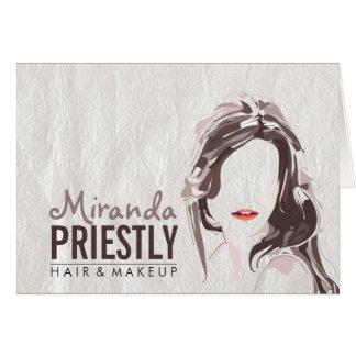 Cartão Salão de beleza moderno do maquilhador e do