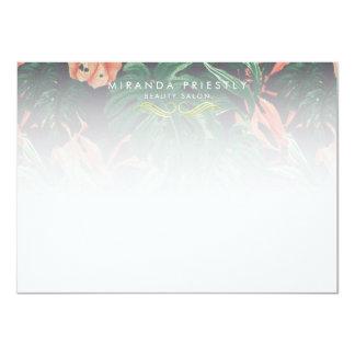 Cartão Salão de beleza tropical chique Notecard da