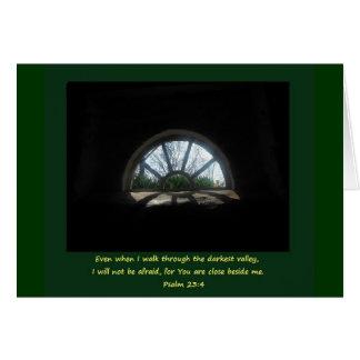 Cartão Salmo 23; Tempo difícil