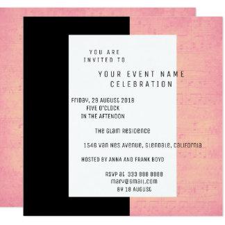 Cartão Salmões cor-de-rosa do ouro do concerto preto