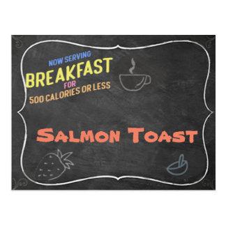 Cartão Salmon da receita do brinde