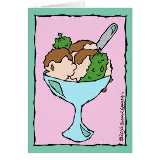 Cartão Salmouras e parabéns do sorvete na gravidez