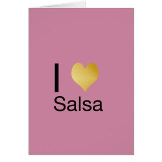 Cartão Salsa Playfully elegante do coração de I