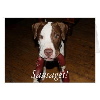 Cartão salsichas do cão!