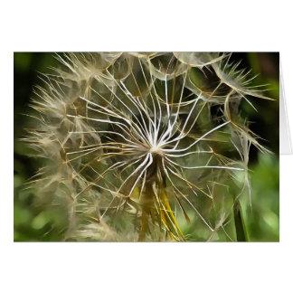 Cartão Salsify da flor do Tragopogon