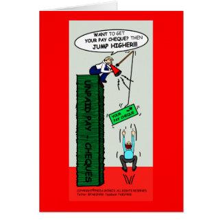 Cartão SALTE uns desenhos animados sarcásticos brilhantes