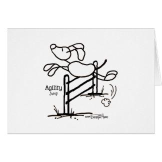 Cartão Salto da agilidade - cão da vara