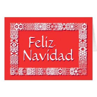 Cartão Saludos Feliz Tarjeta De Navidad. Dentro de Saludo