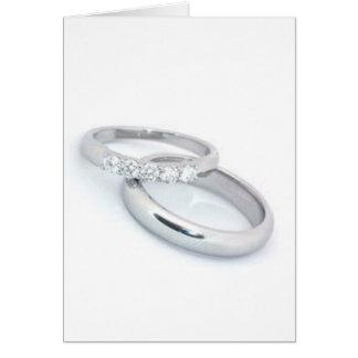 Cartão Salvar a data/alianças de casamento de prata
