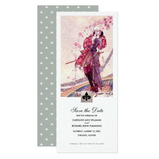 Cartão Salvar a data. Anúncios do casamento da arte do