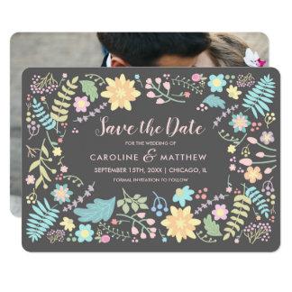 Cartão Salvar a data. Anúncios feitos sob encomenda da