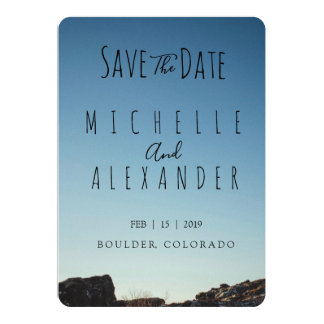 Cartão Salvar a data - casamento exterior