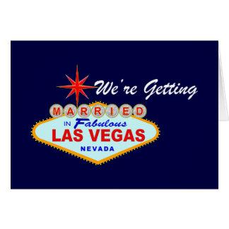 Cartão Salvar a data - Las Vegas