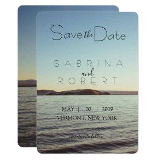 Cartão Salvar a data - opinião bonita do lago