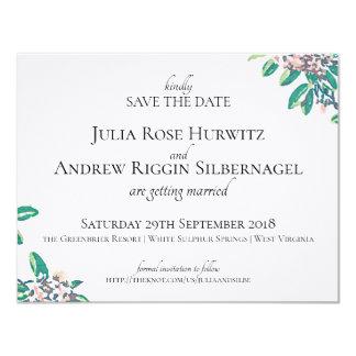 Cartão Salvar a data para Julia & Andrew