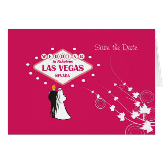 """Cartão """"Salvar a data"""" que Wedding em Las Vegas fabuloso"""